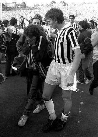 Zbigniew Boniek podczas meczu na Heysel