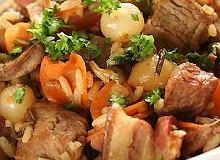 Gulasz trapera z wołowiną i bekonem - ugotuj