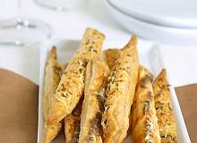Zapa�eczki z serem z ciasta francuskiego - ugotuj