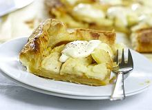 Placek z jabłkami i serkiem mascarpone - ugotuj