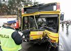47 rannych w katastrofie autobusu 703 pod Jankami