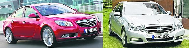 Opel Insignia i Mercedes E-klasse