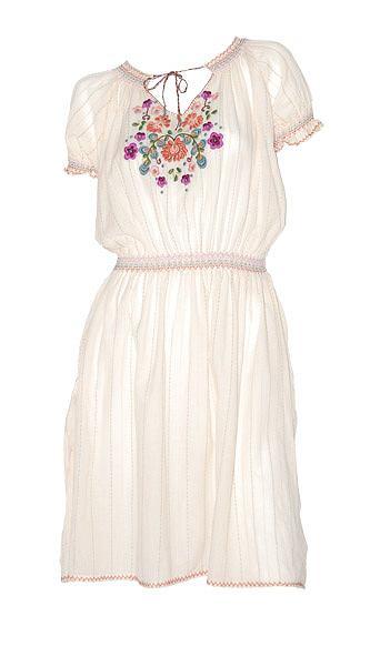 54d6cedd2e Ludowa sukienka Oysho