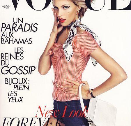 Anja Rubik na okładce czerwcowego numeru Vogue Paris