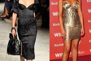 Z wybiegu: Jennifer Aniston w sukience Prady