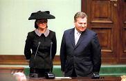 23 grudnia 2000, zaprzysiężenie prezydenta Aleksandra Kwaśniewskiego