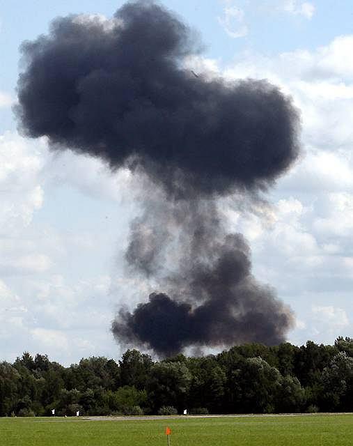 Myśliwiec Su-27 podczas pokazów Air Show rozbił się tuż po starcie