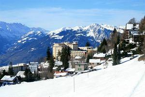 Jungfrau i Les Diablerets. Poci�g do nart