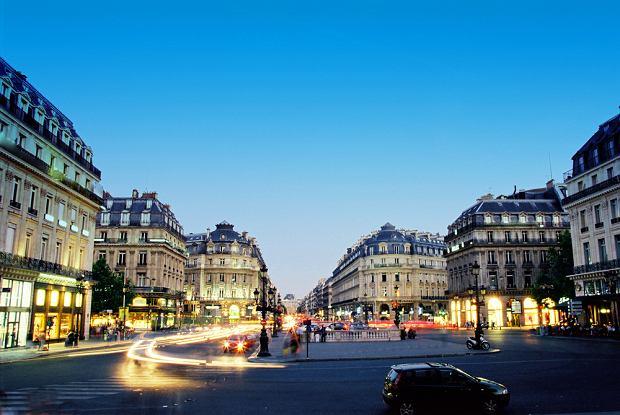 paryż, ulica, w okolicach opery