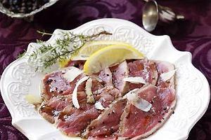 Carpaccio z marynowanej pol�dwicy wo�owej
