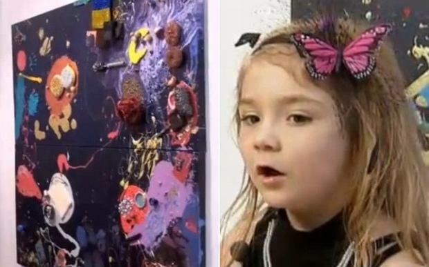Aelita Andre - 4-letnia artystka, kt�ra ma wystaw� w nowojorskiej galerii.