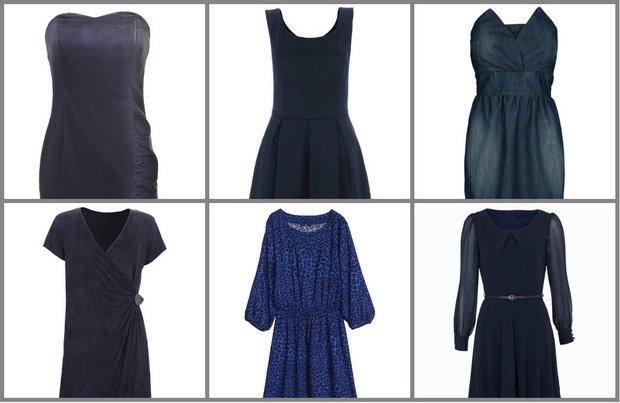 Granatowe sukienki - alternatywa dla czerni