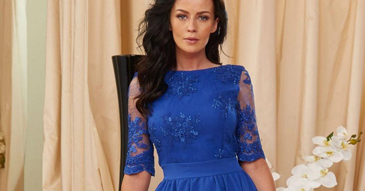 fcc9048bae Sukienka chabrowa  piękna kreacja na ważne okazje