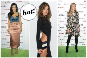 Monstrualny biust Kim Kardashian, ods�aniaj�ca wszystko kreacja Alessandry Ambrosio oraz skromne stylizacje Amandy Seyfried, Stephanie Seymour i Camili Alves na gali ACRIA
