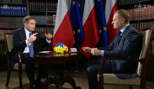 Premier Donald Tusk w programie Tomasza Lisa w TVP