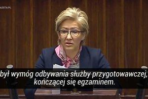 """Maria Janyska (PO) o nowelizacji: """"Zatoczyli�my ko�o i wracamy do kryterium jakie by�o w PRL-u"""""""