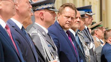 Święto policji na dziedzińcu Pałacu Branickich