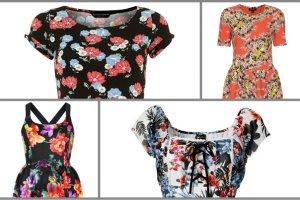 Wiosennie: sukienki w kwiaty