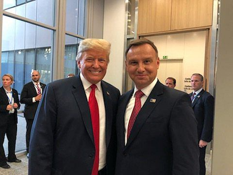 Donald Trump i Andrzej Duda w Brukseli