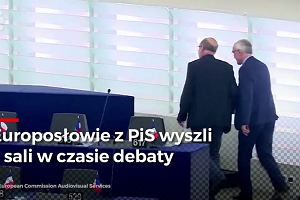 Parlament Europejski przyjął rezolucję przeciw Polsce. Europosłowie PiS wyszli z sali