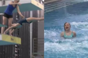 """Nieudane skoki w """"Celebrity Splash"""". Najgorzej idzie Dorocie Czai. To wygl�da bole�nie"""