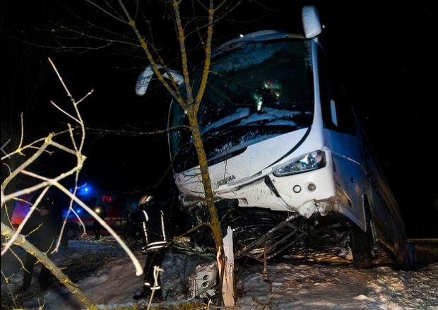 Wypadek lubelskiego autokaru pod Wilnem. Są ranni