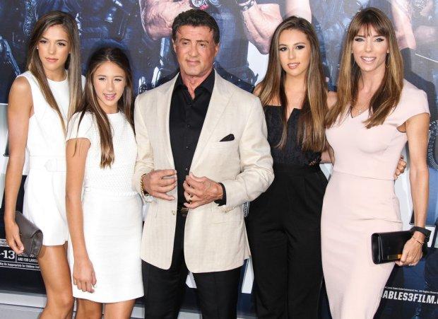 Sistine Rose, Scarlet Rose Stallone, Sylvester Stallone, Sophia Rose Stallone, Scarlet Rose Stallone, Jennifer Flavin Stallone
