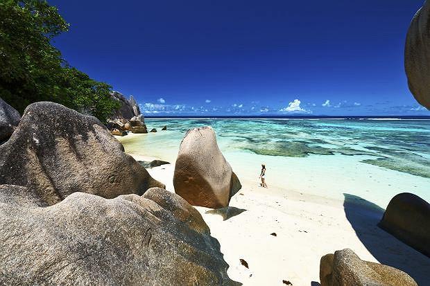 Plaża na wyspie La Digue