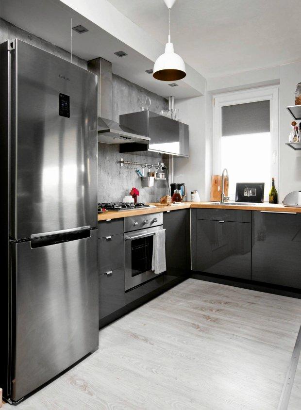 Szara kuchnia 15 modnych aranżacji  zdjęcie nr 9 -> Kuchnia Lakierowana Czy Okleina