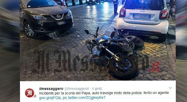 Wypadek policjanta z eskorty papieża Franciszka. Funkcjonariusz w szpitalu