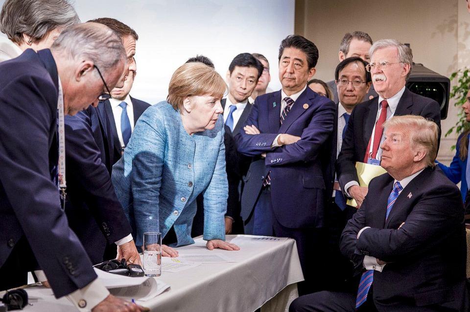 Donald Trump, Angela Merkel i inni liderzy na szczycie G7