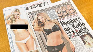 """Zdjęcia półnagich kobiet na trzecich stronach w dwóch egzemplarzach """"The Sun"""""""