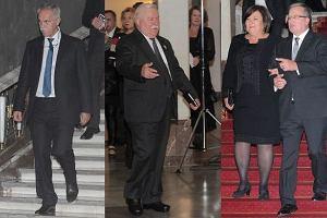 Zygmunt Solorz-�ak, Lech Wa��sa, Anna Komorowska, Bronis�aw Komorowski.
