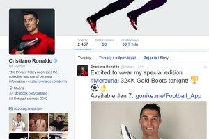 Cristiano Ronaldo najpopularniejszym sportowcem na Twitterze
