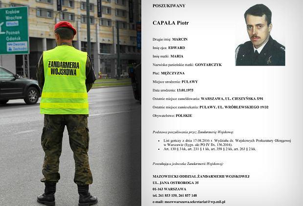 Poszukiwany: Piotr Capa�a. �andarmeria Wojskowa listem go�czym �ciga porucznika z 36. Pu�ku. Podejrzewa go o szpiegostwo