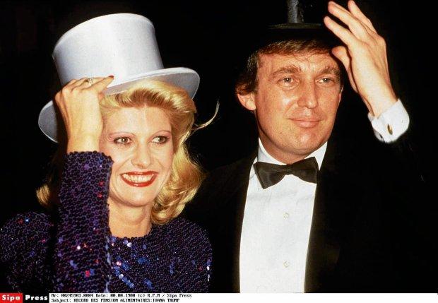 Donald z pierwszą żoną, Czeszką Ivaną, 1989 r. Fot.EAST NEWS/SIPA