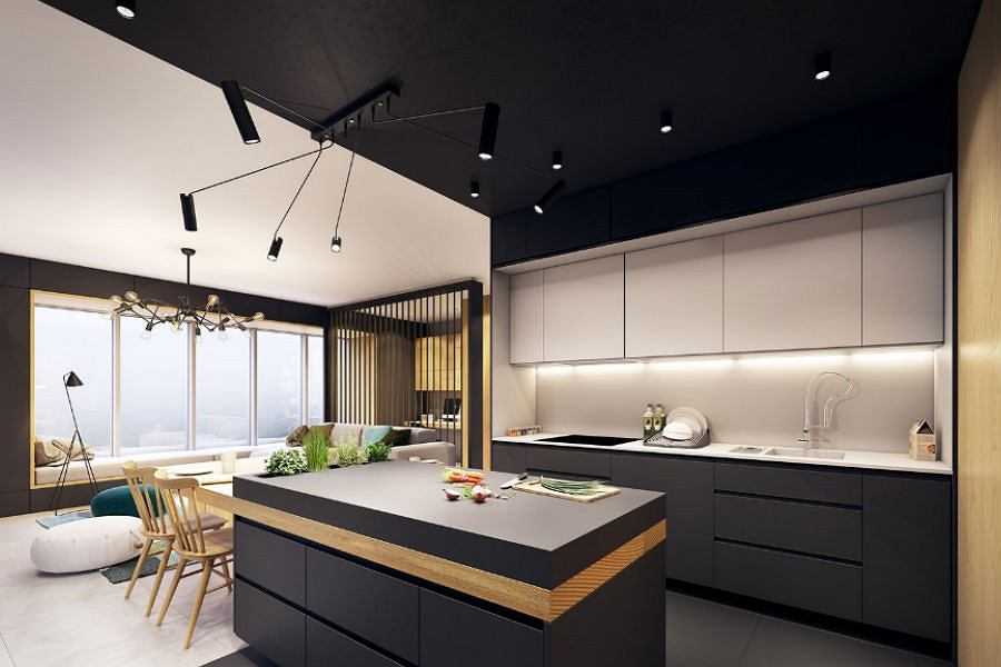 kitchen loft design with 1 153170 20645423 Idealna Kuchnia 3 Inspiracje on Pia De Banheiro De Luxo moreover Mountain Modern Home Martis C in addition Remodelled Rooftop Apartment In New York furthermore Cucina Con Soffitto Basso 8283 also 10 Inspirations Pour Une Cuisine Industrielle 1171193.