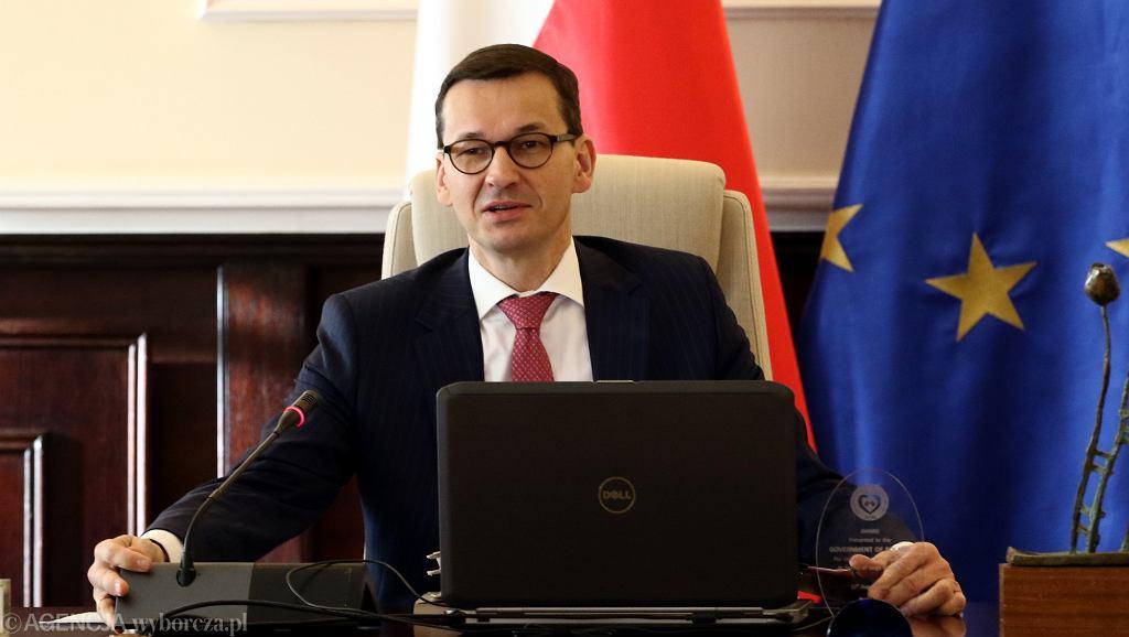 4.01.2018, premier Mateusz Morawiecki na posiedzeniu rządu.