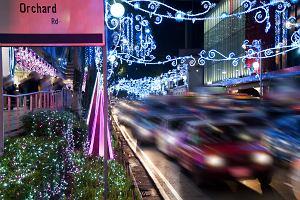 Singapur. Wzd�u� Orchard Road