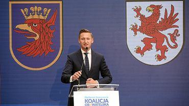 Olgierd Geblewicz podczas konwencji przedwyborczej Koalicji Obywatelskiej.