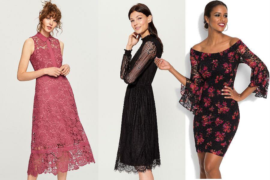 Sukienki z koronki znajdziesz w ofercie popularnych marek: Reserved, Mohito czy Bonprix