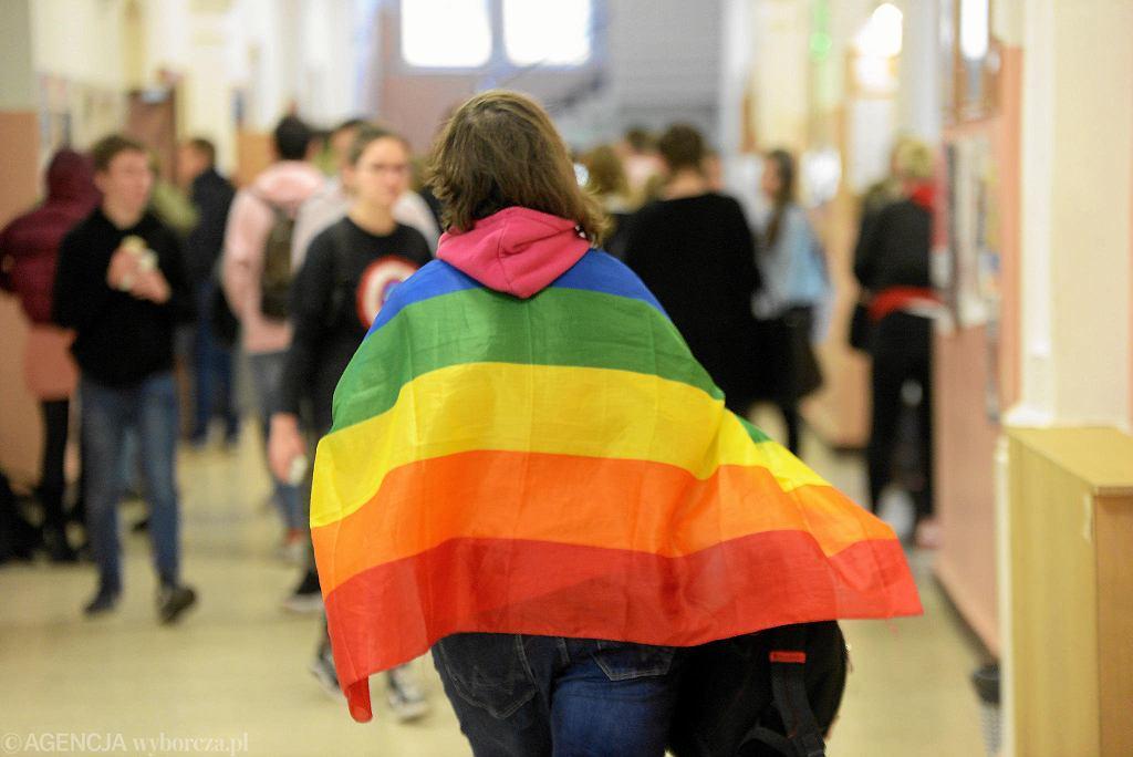Tęczowy Piątek w prywatnej szkole Paderewski w Lublinie, która jako jedyna w mieście przystąpiła do akcji