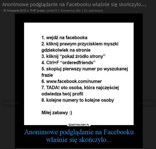 Nie, wci�� nie mo�esz sprawdzi�, kto ogl�da� tw�j profil na Facebooku