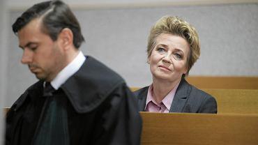 Hanna Zdanowska na odczytaniu wyroku w sądzie