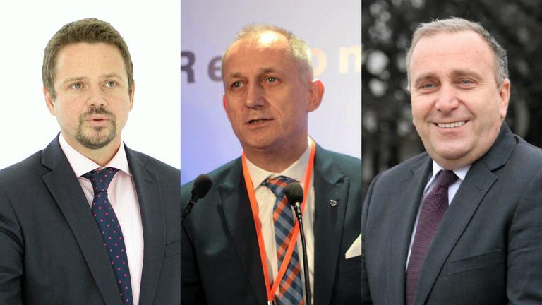 Rafał Trzaskowski, Sławomir Neumann i Grzegorz Schetyna
