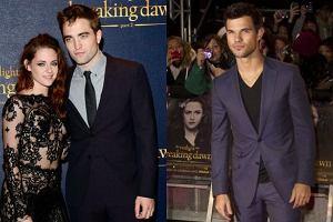 """Przytuleni Stewart i Pattinson oraz przystojny Taylor Lautner. Kto pojawi� si� na londy�skiej premierze """"Przed �witem cz.2"""""""