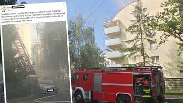 Pożar na Kochanowskiego w Warszawie
