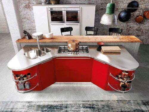 Bez kątów. Moduł kuchenny, który można rozbudowywać. Dostępny w ponad 100 rodzajach wykończenia, Skyline 2.0, cena uzależniona od zestawu, Snaidero