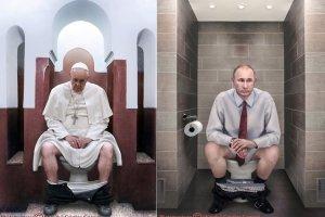 """Papie� Franciszek i W�adimir Putin na sedesie. """"Nawet oni s� normalnymi lud�mi"""""""