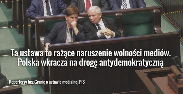 Beata Szyd�o i Jaros�aw Kaczy�ski